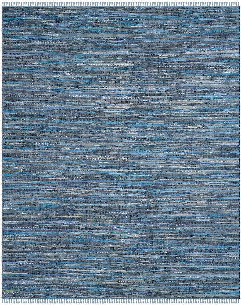 Naarden Hand-Woven Blue Area Rug Rug Size: Square 6'