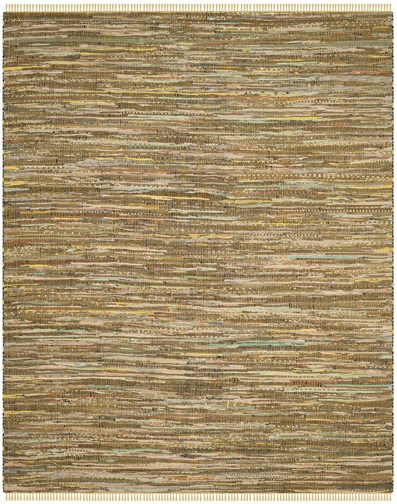 Nessadiou Hand-Woven Yellow/Multi Area Rug Rug Size: Round 6'