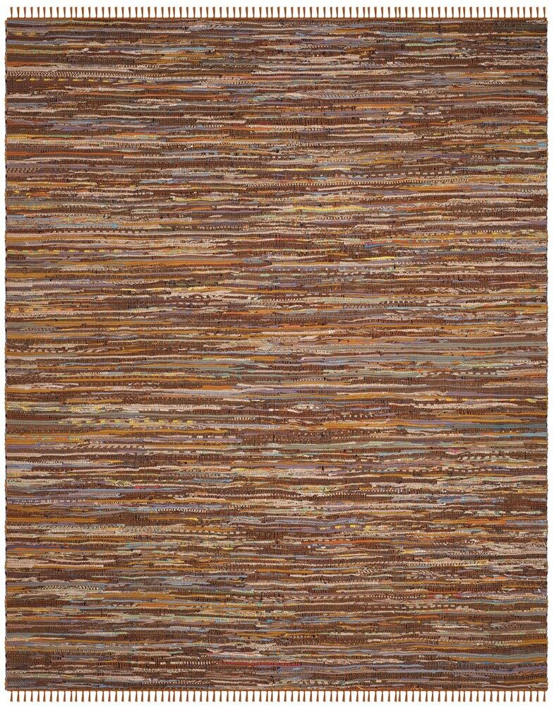 Apeldoorn Hand-Woven Cotton Brown Area Rug Rug Size: Rectangle 8' x 10'