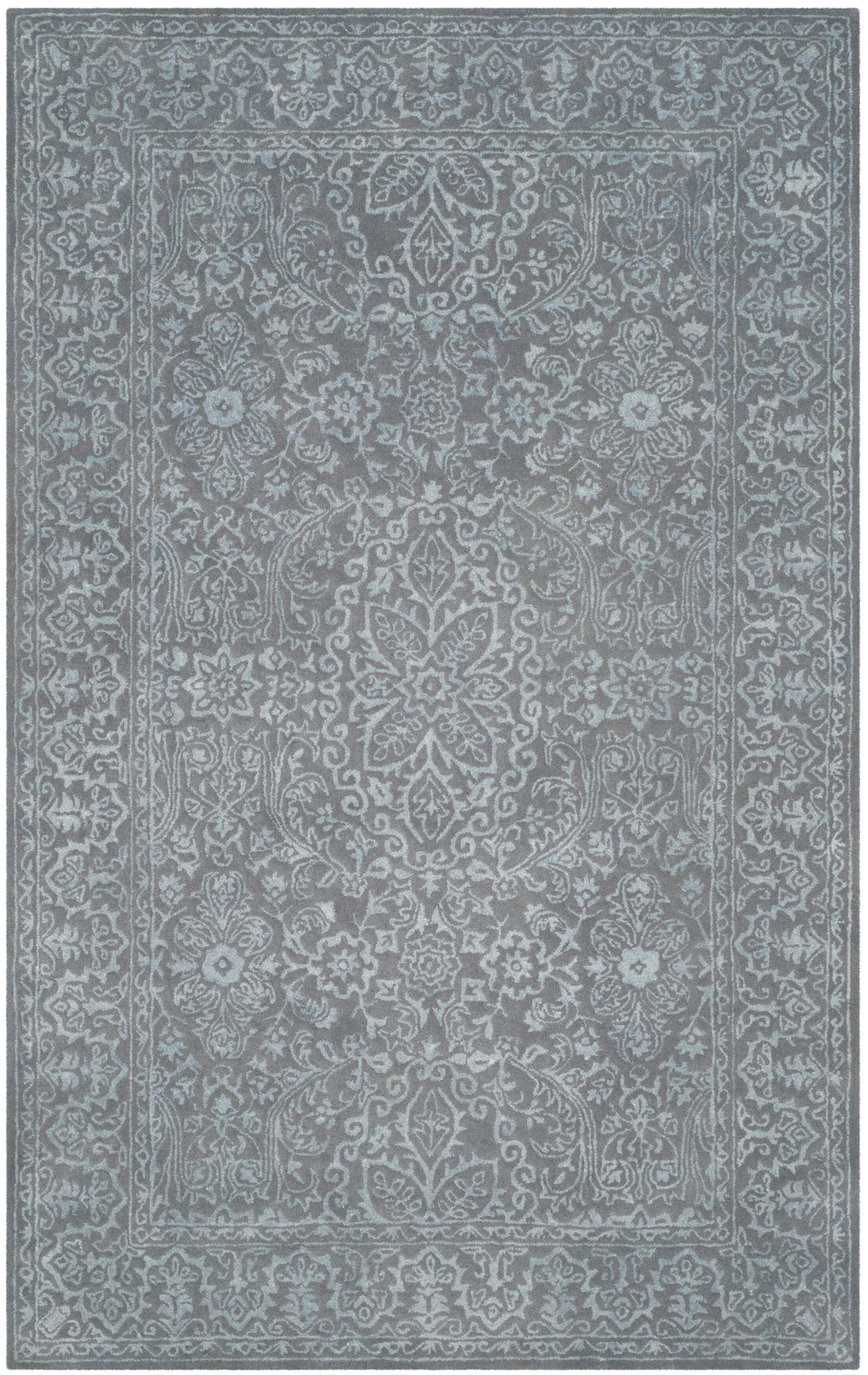Wilkins Hand-Tufted Opal/Gray Area Rug Rug Size: Rectangle 3' x 5'