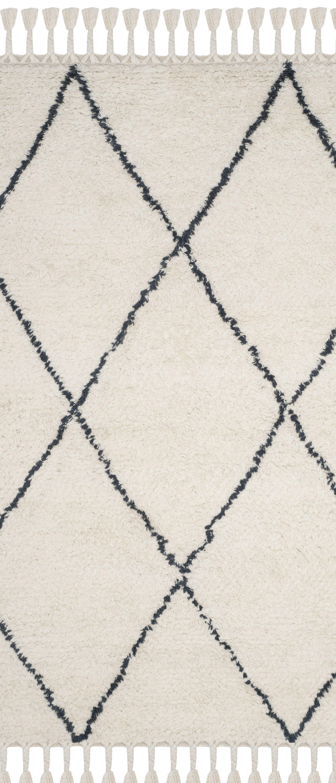 Lockheart Hand-Tufted Beige/Black Area Rug Rug Size: Runner 2'3