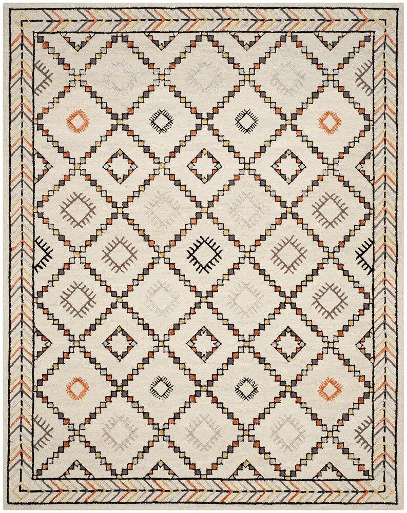 Blokzijl Hand-Tufted Ivory Area Rug Rug Size: Rectangle 6' x 9'