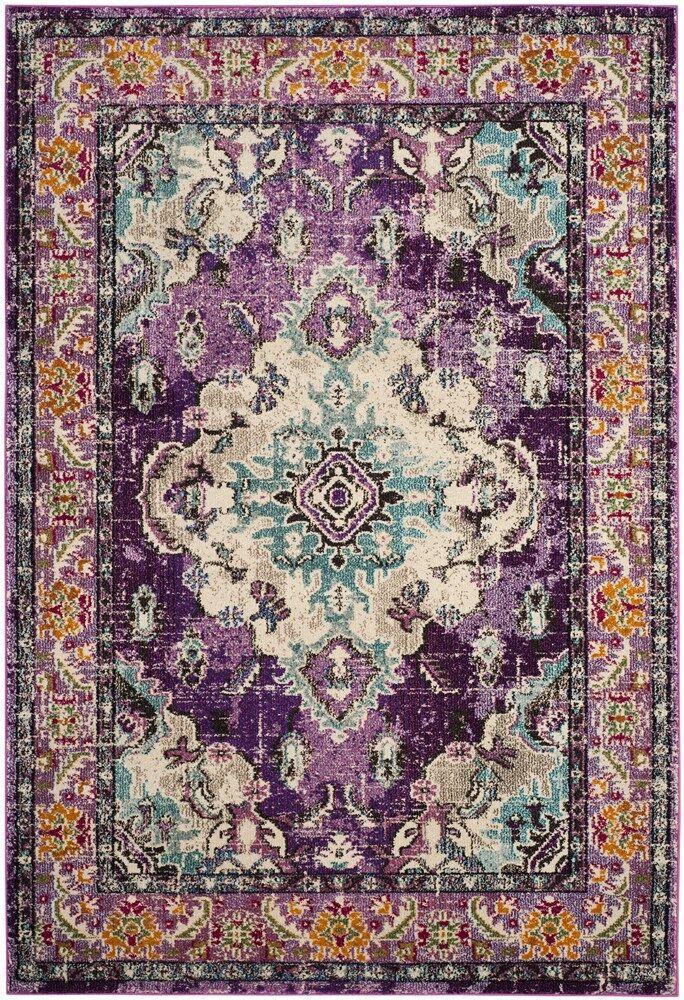Annabel Violet/Light Blue Area Rug Rug Size: Rectangle 3' x 5'