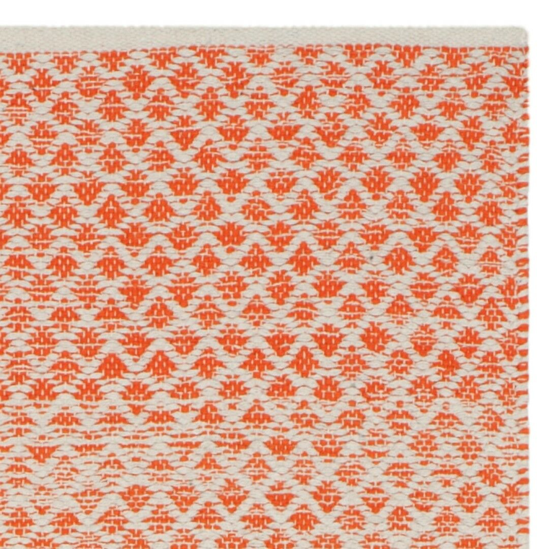 Saleem Hand-Woven Orange/Ivory Area Rug Rug Size: Rectangle 5' x 8'