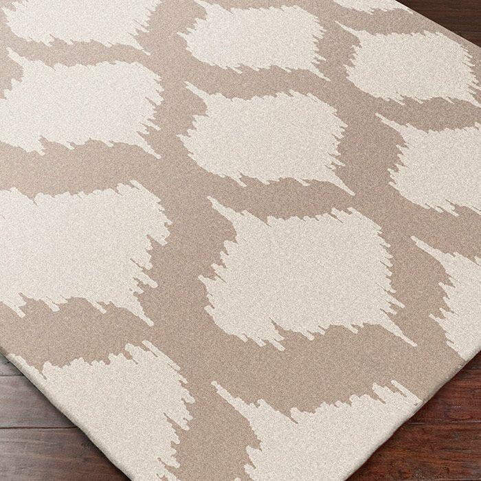 Faith Ivory/Brindle Geometric Area Rug Rug Size: Runner 2'6