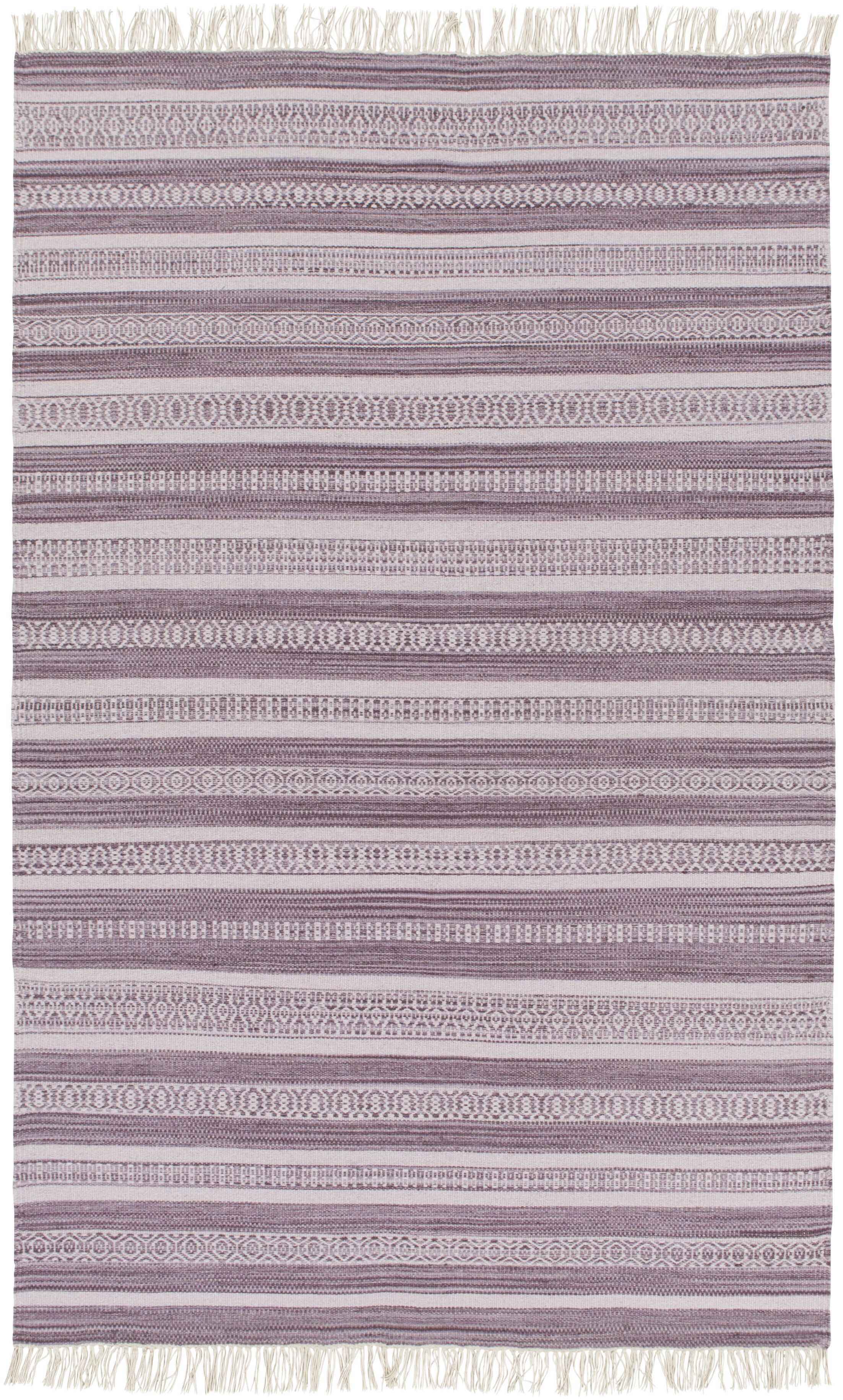 Nampa Hand Woven Cotton Lavender Area Rug Rug Size: Runner 2'6