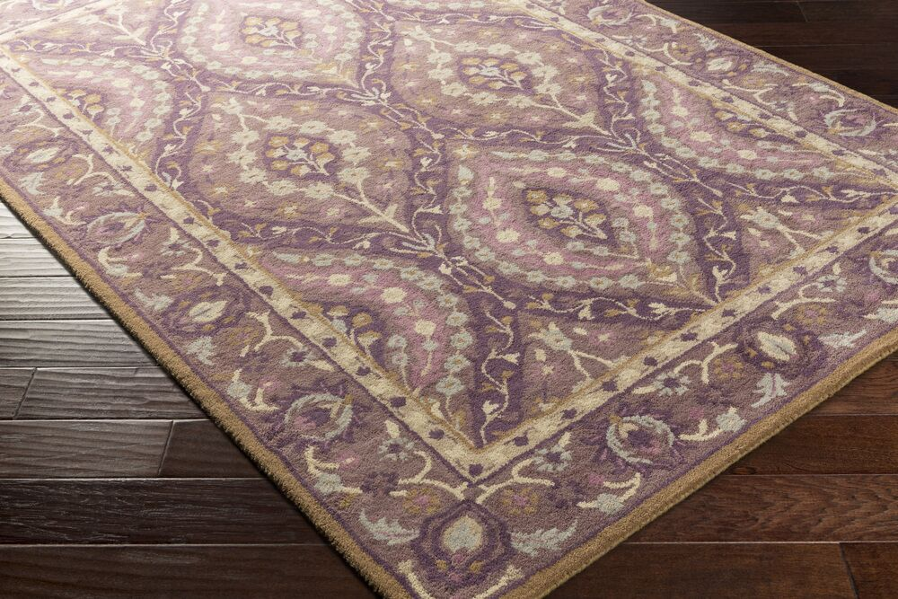 Wagner Hand-Tufted Dark Purple Area Rug Rug Size: Runner 2'6