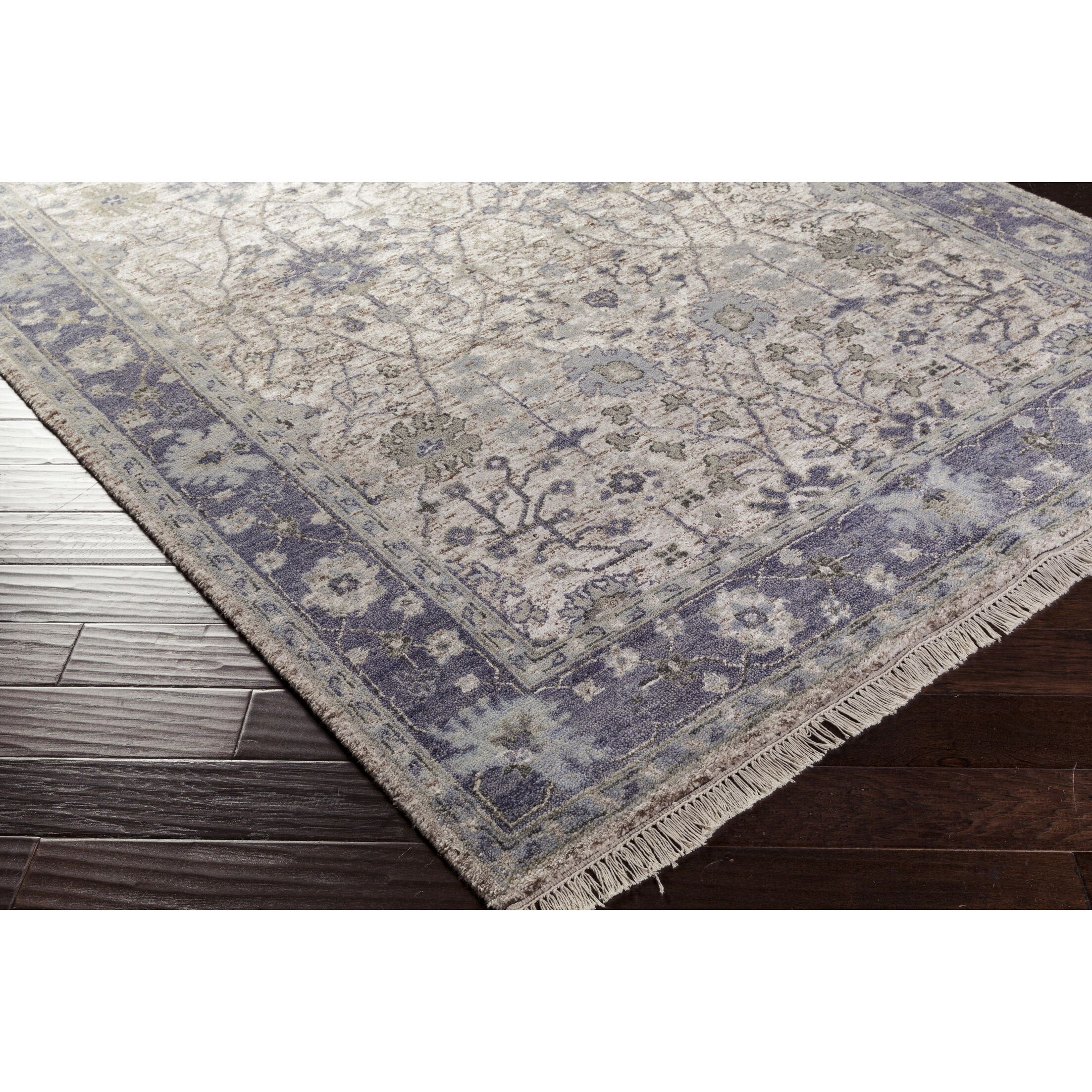 Skegness Hand-Knotted Blue/Green Area Rug Rug Size: Rectangle 9' x 13'