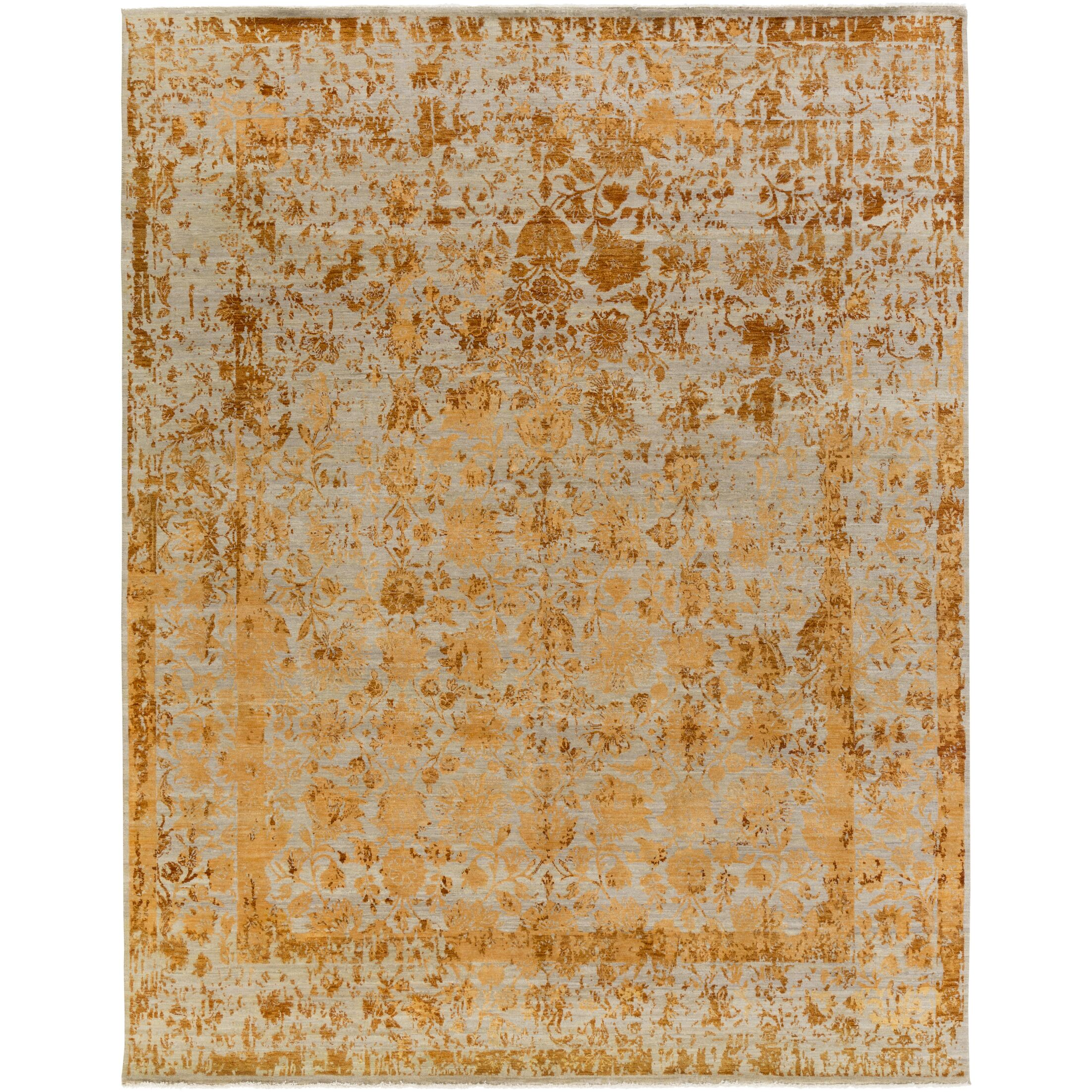 Soussi Hand-Knotted Wool/Silk Brown Area Rug Rug Size: Rectangle 8' x 10'