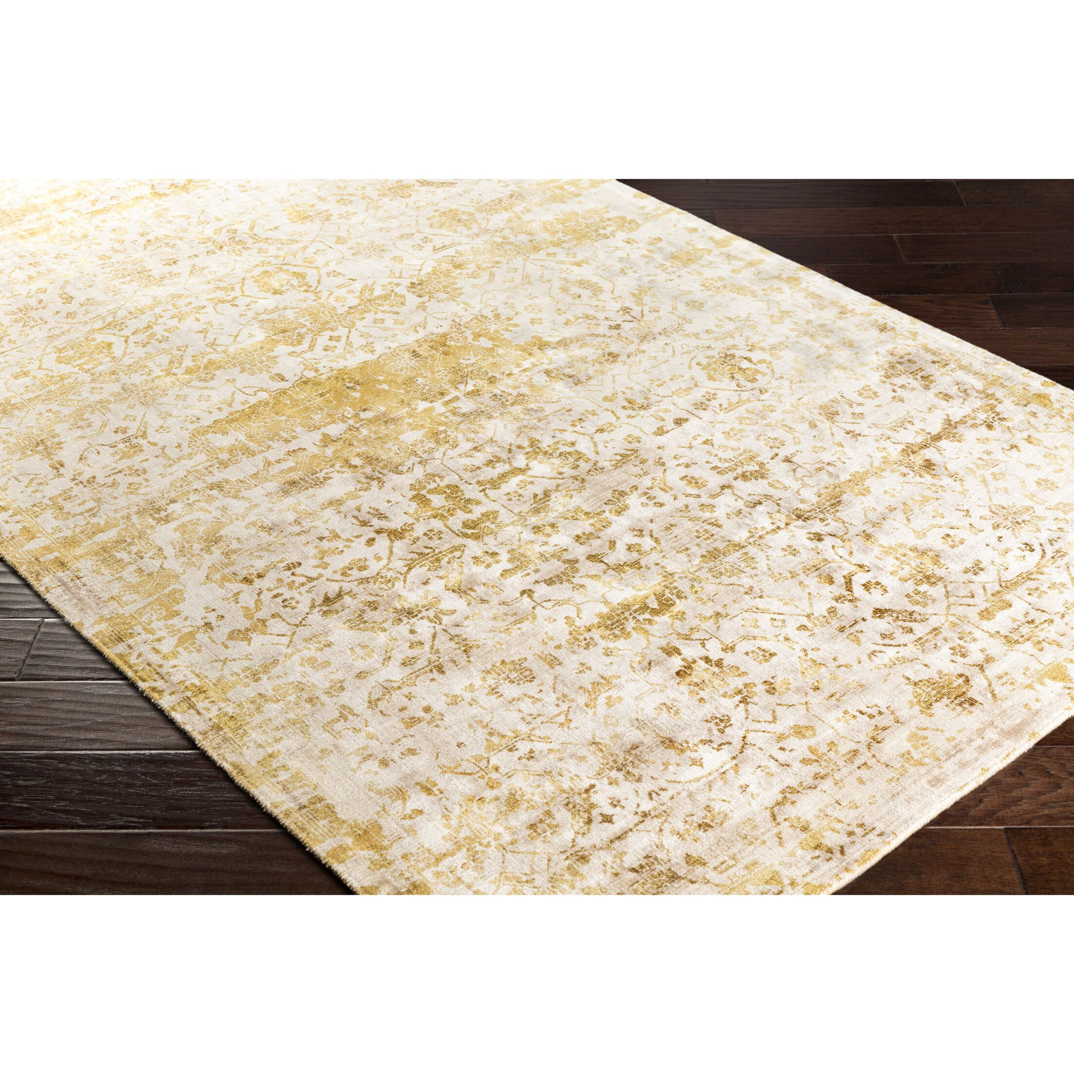 Dollie Hand-Loomed Yellow/Neutral Area Rug Rug Size: Rectangle 5' x 7'6