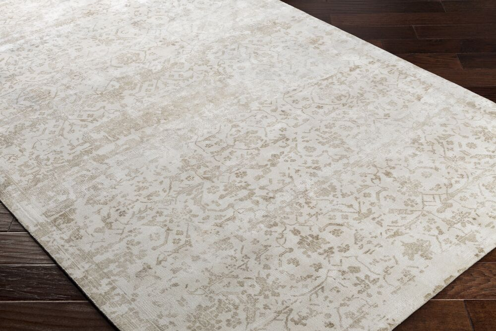 Dollie Hand-Loomed Green/Neutral Area Rug Rug Size: Rectangle 8' x 10'