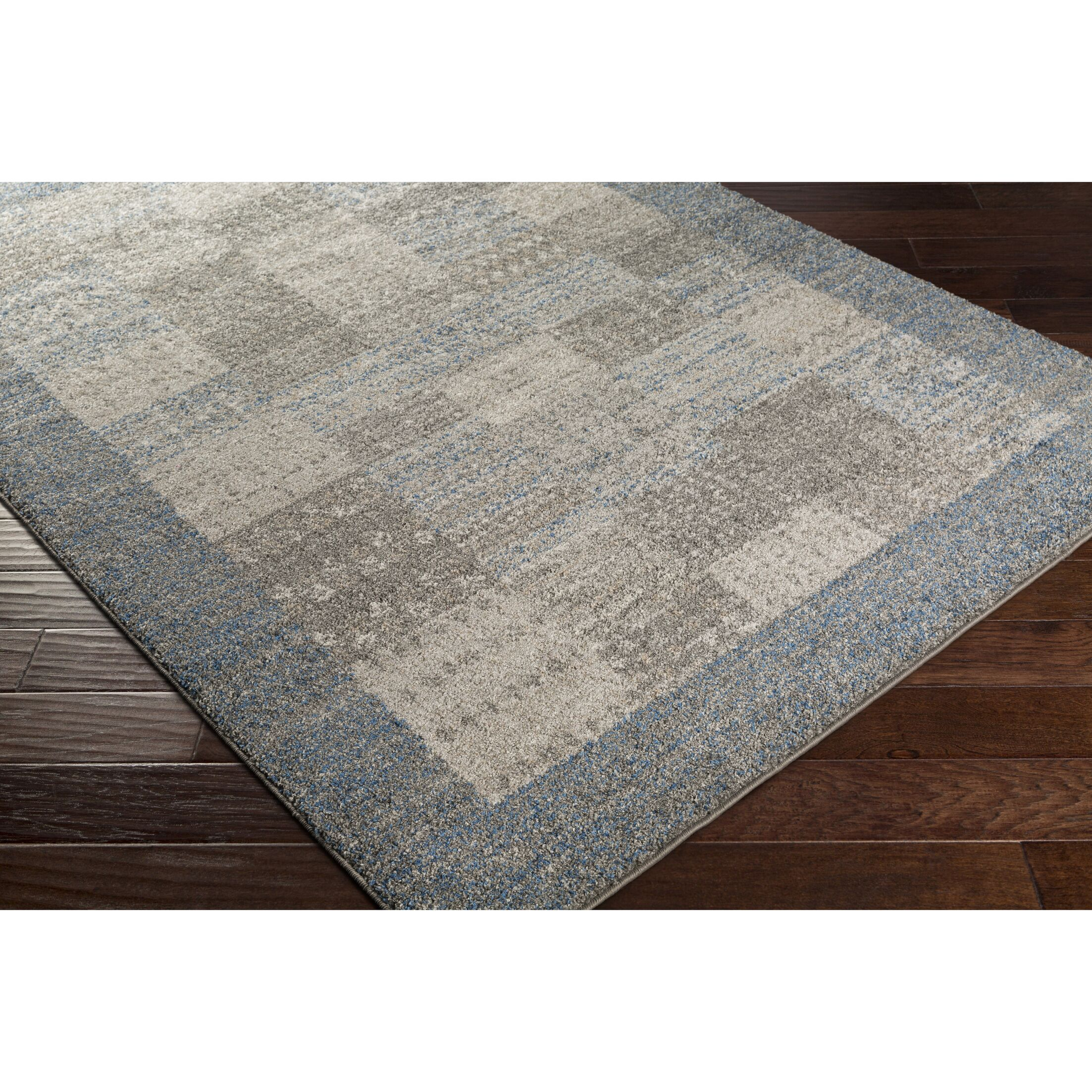 Addora Blue/Gray Area Rug Rug Size: Rectangle 5' x 7'6