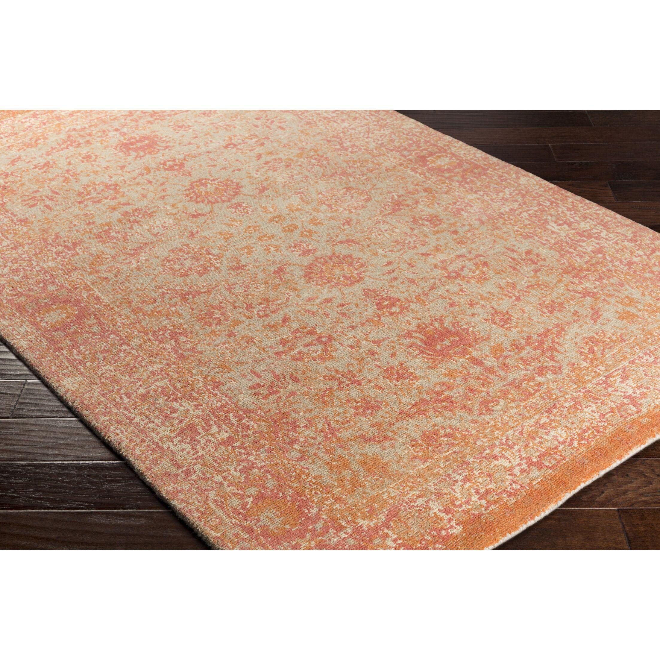 Anselma Hand-Loomed Khaki/Pink Area Rug Rug Size: Rectangle 8' x 10'
