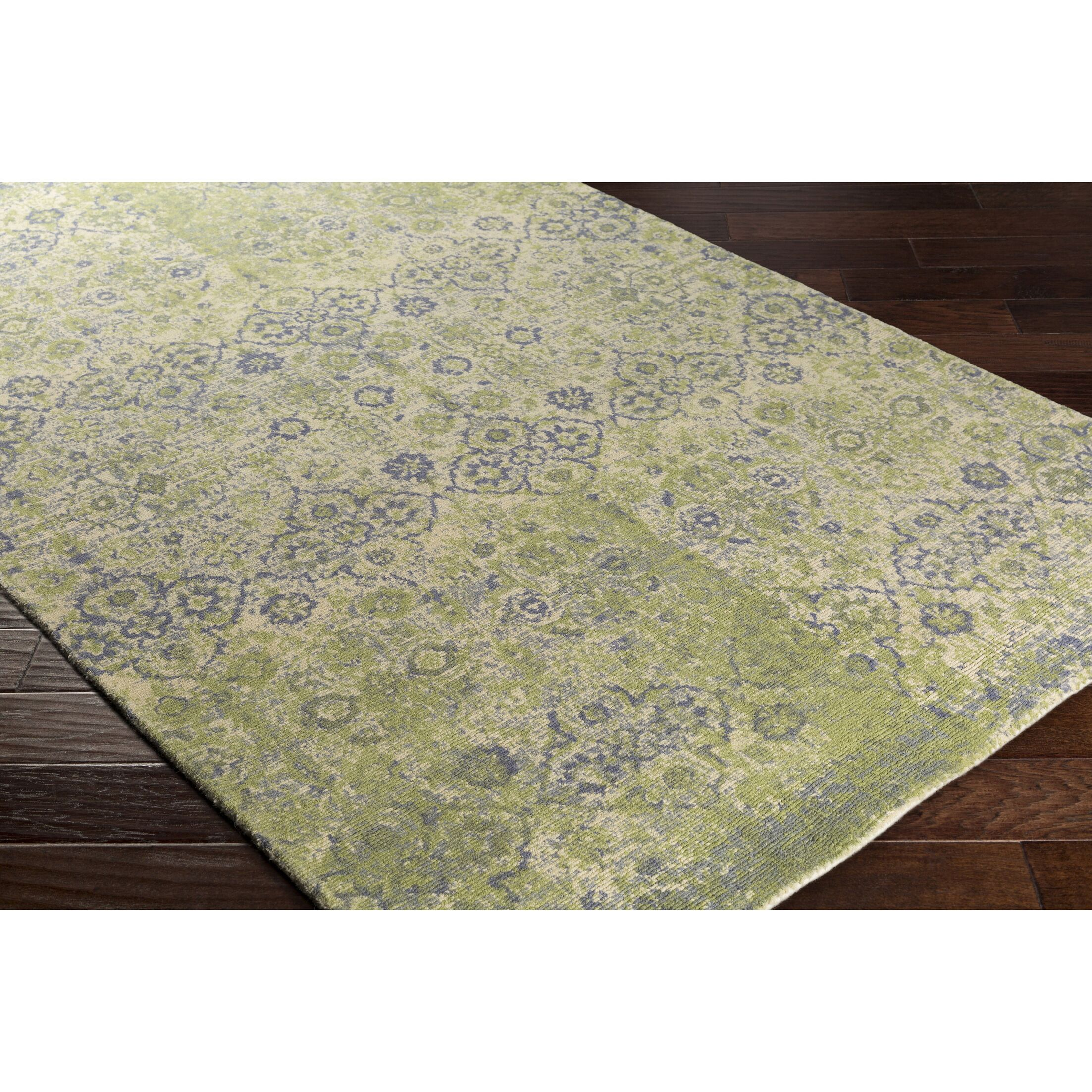 Anselma Hand-Loomed Neutral/Green Area Rug Rug Size: Rectangle 8' x 10'