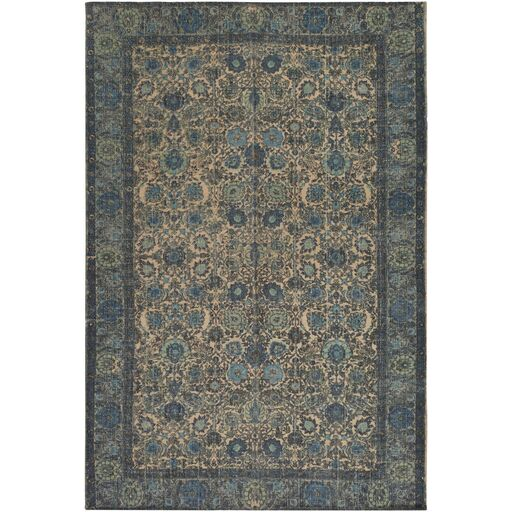Borendy Hand-Woven Neutral/Black Area Rug Rug Size: Rectangle 8' x 10'