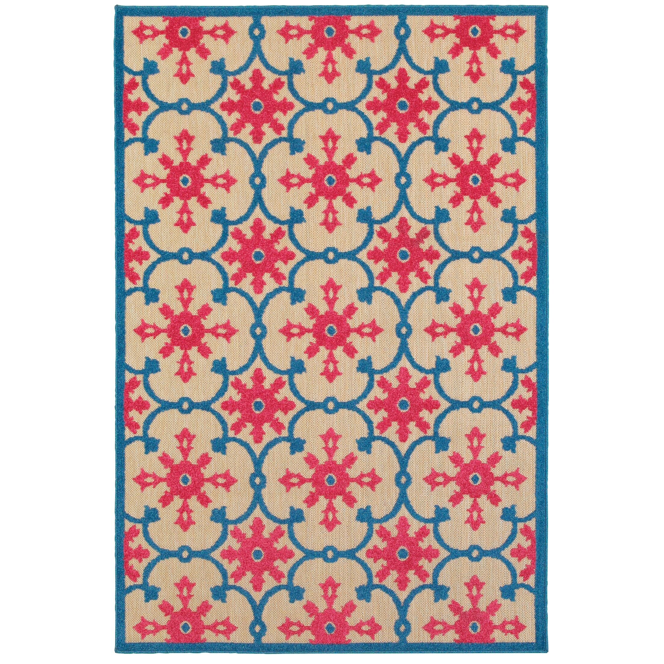 Luisa Sand/Pink Outdoor Area Rug Rug Size: Rectangle 9'10