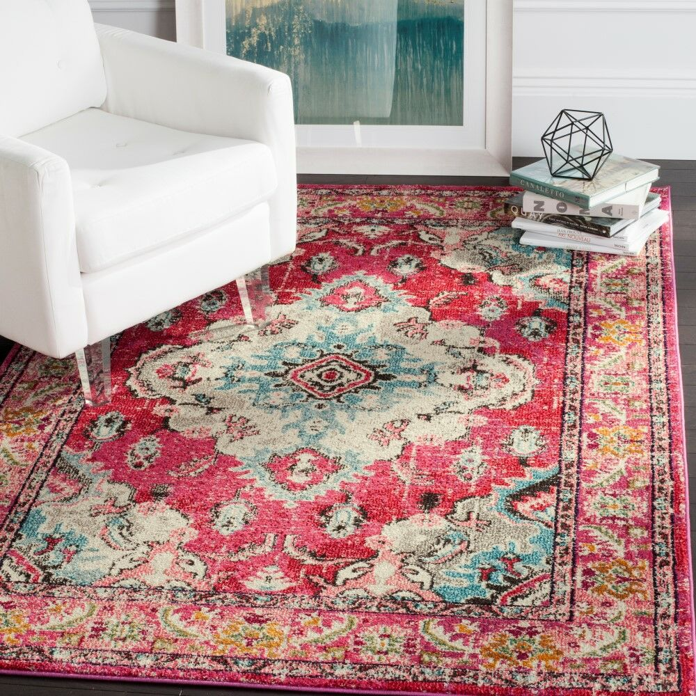 Portillo Pink Area Rug Rug Size: Square 5'