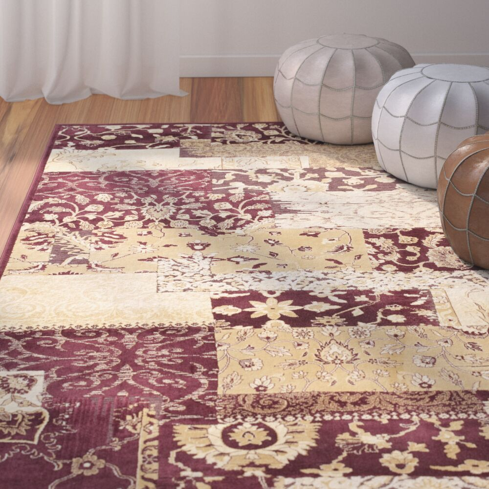 Saint-Michel Red Area Rug Rug Size: Rectangle 8' x 11'2