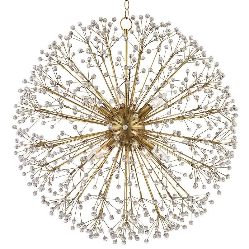 Beaumont 10-Light Globe Pendant Finish: Aged Brass