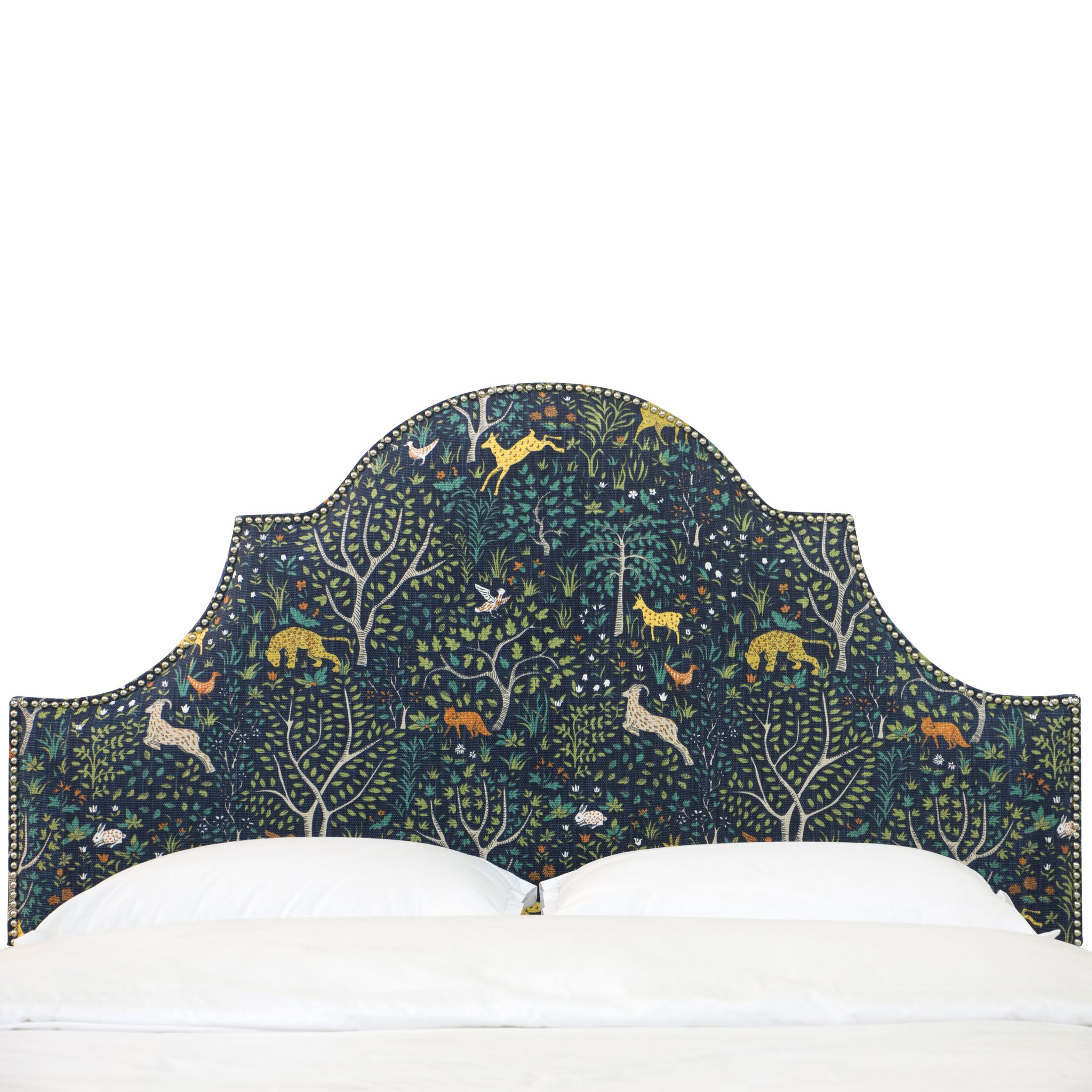 Wisner Button High Arch Notched Upholstered  Panel Headboard Size: Full