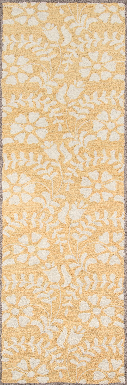 Aliyah Hand-TuftedYellow Area Rug Rug Size: Rectangle 3'9
