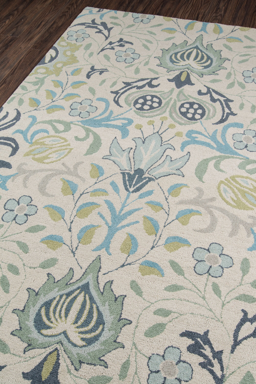 Anaya Hand-TuftedBlue Area Rug Rug Size: Rectangle 3'9