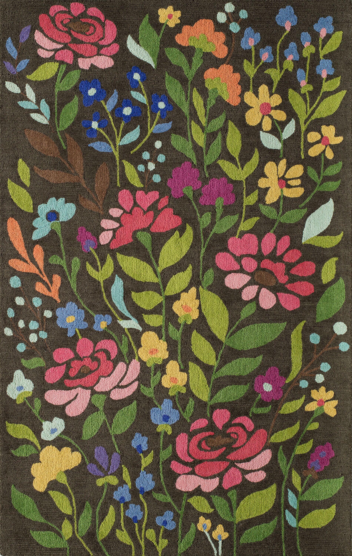 Anaya Brown Area Rug Rug Size: Rectangle 5' x 8'