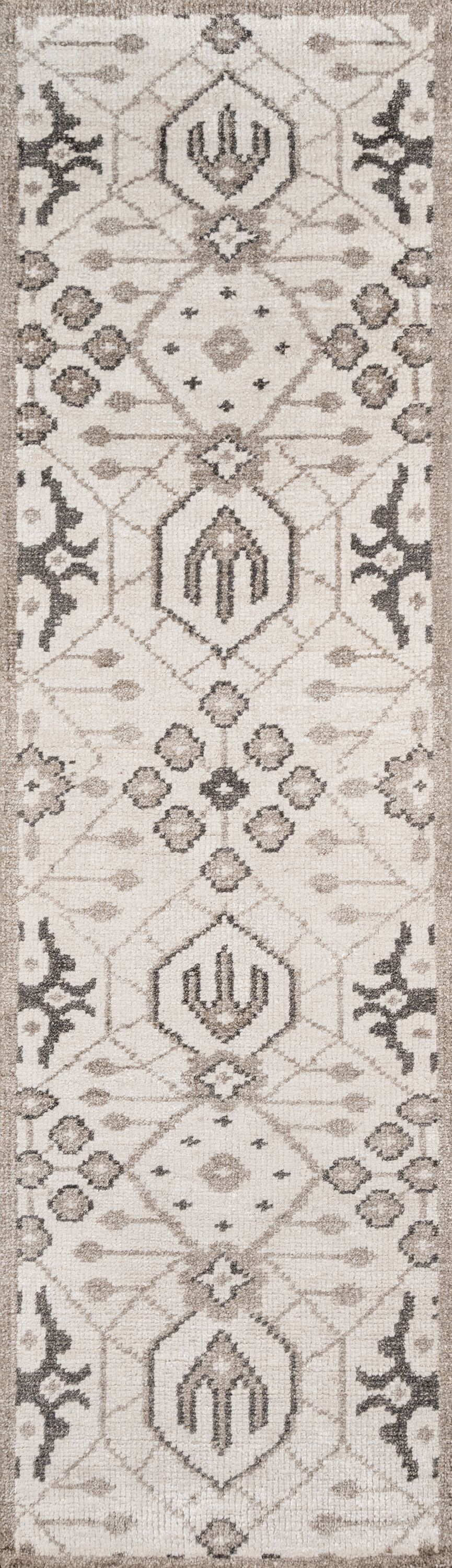 Zoey Hand-Knotted Gray Area Rug Rug Size: Runner 2'3