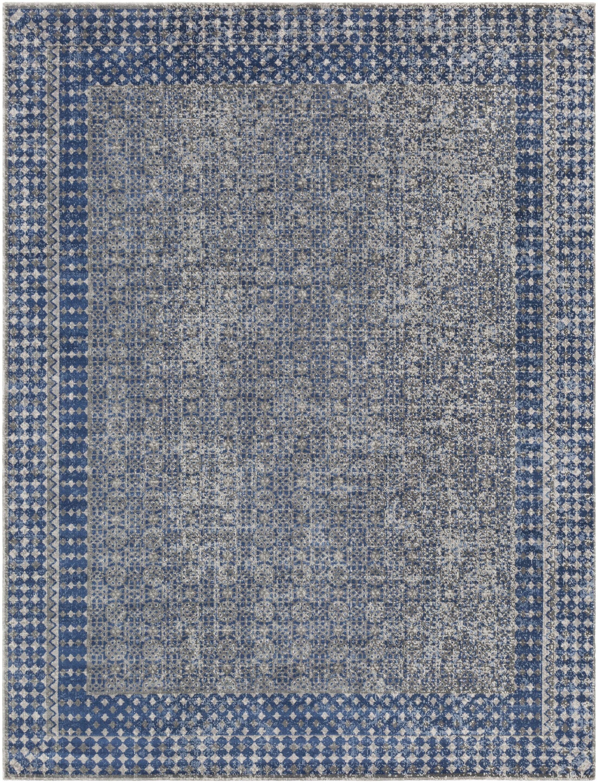 Arabi Blue Area Rug Rug Size: Rectangle 7'10