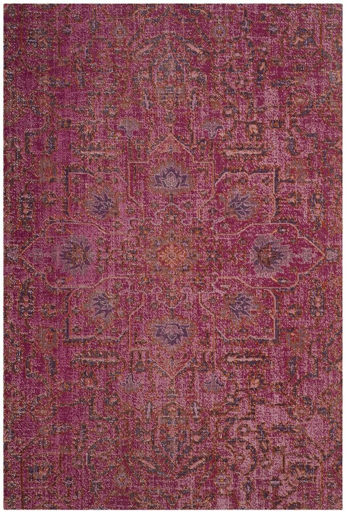 Bunn Rectangle Pink Area Rug Rug Size: Rectangle 4' x 6'