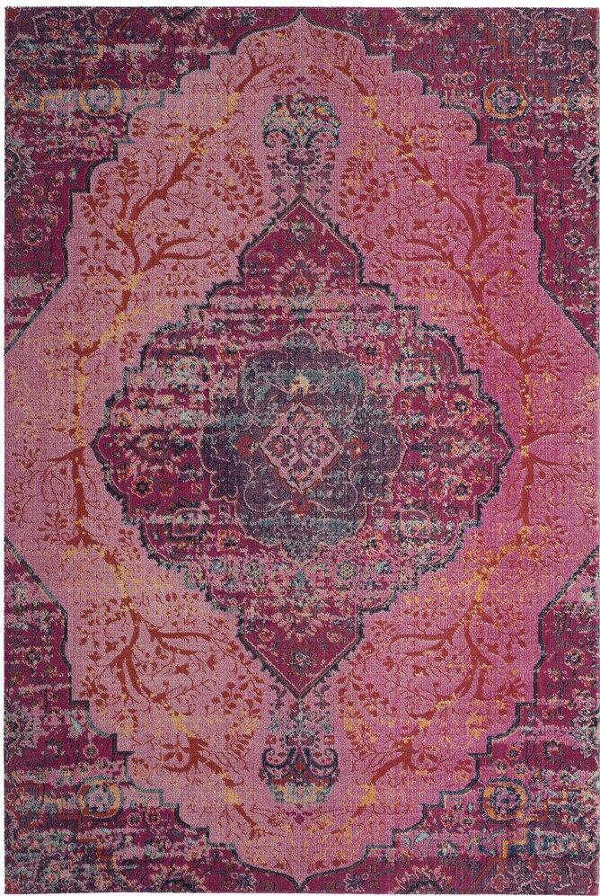 Bunn Power Loom Pink Area Rug Rug Size: Rectangle 4' x 6'