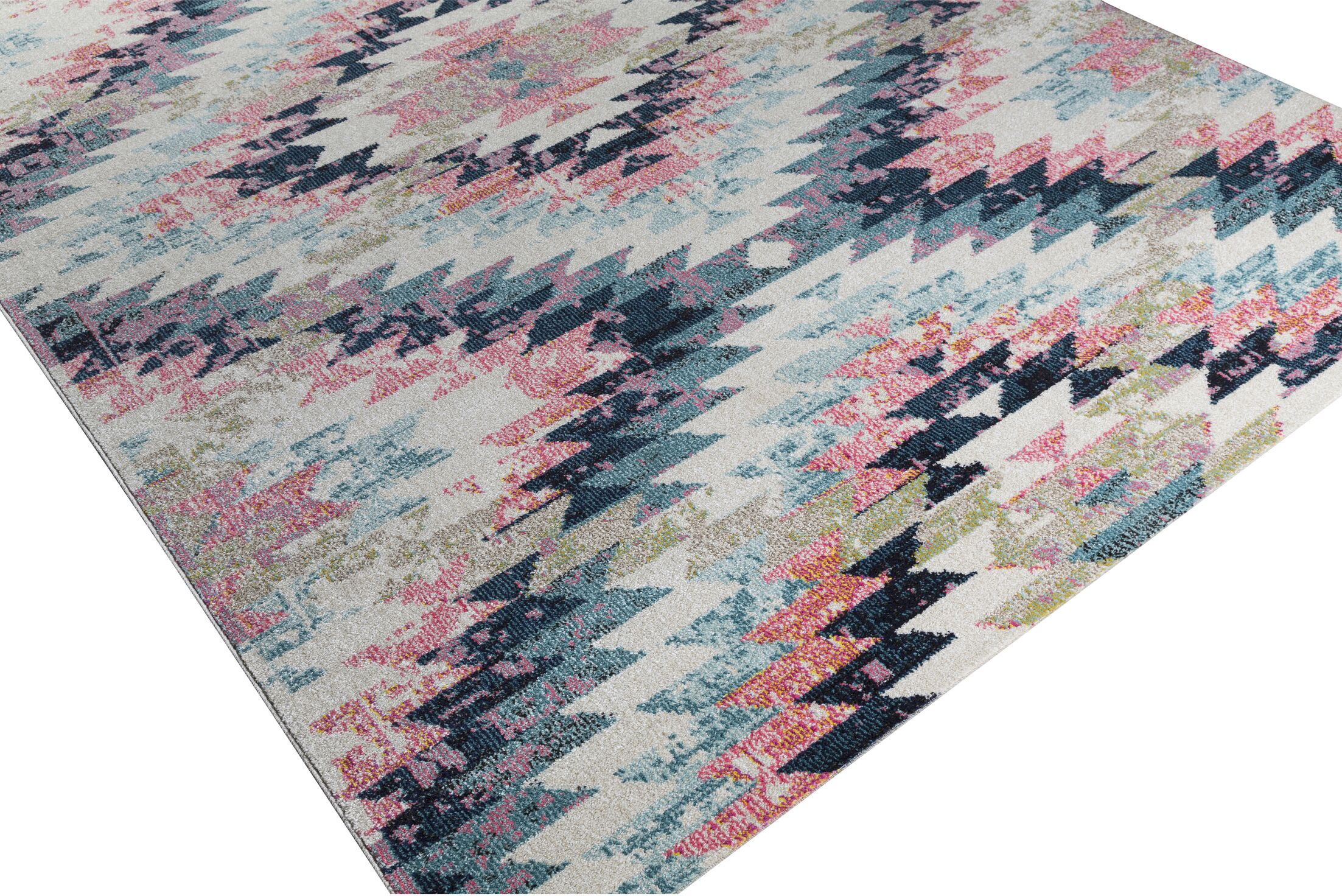Nichole Pink/Beige Area Rug Rug Size: Rectangle 5'3