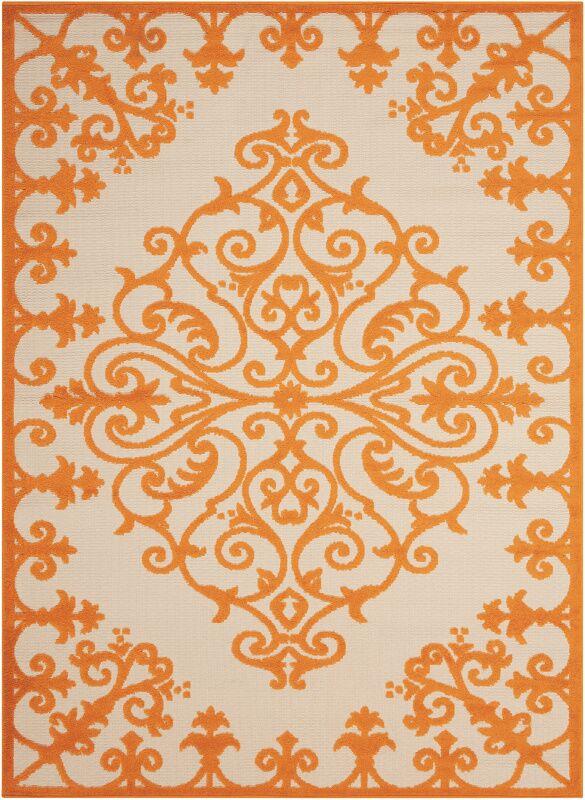 Farley Orange Indoor/Outdoor Area Rug Rug Size: Rectangle 5'3