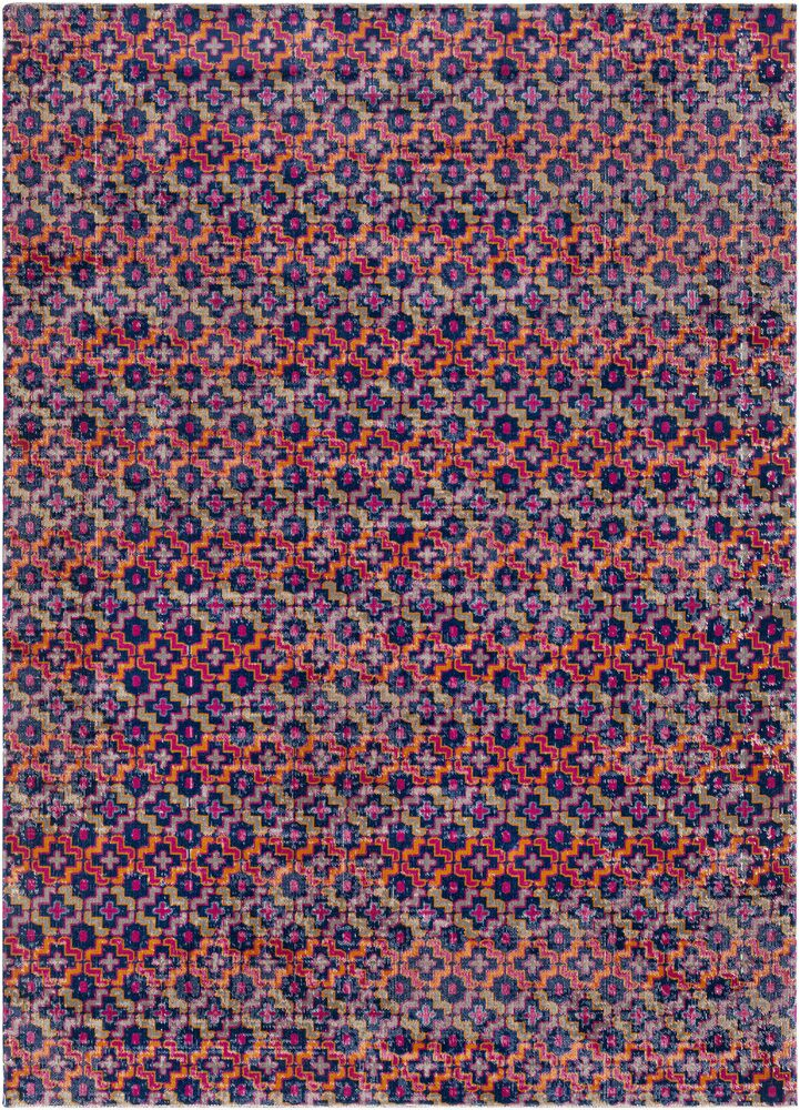 Arabi Geometric Pink/Orange Area Rug Rug Size: Rectangle 5'3