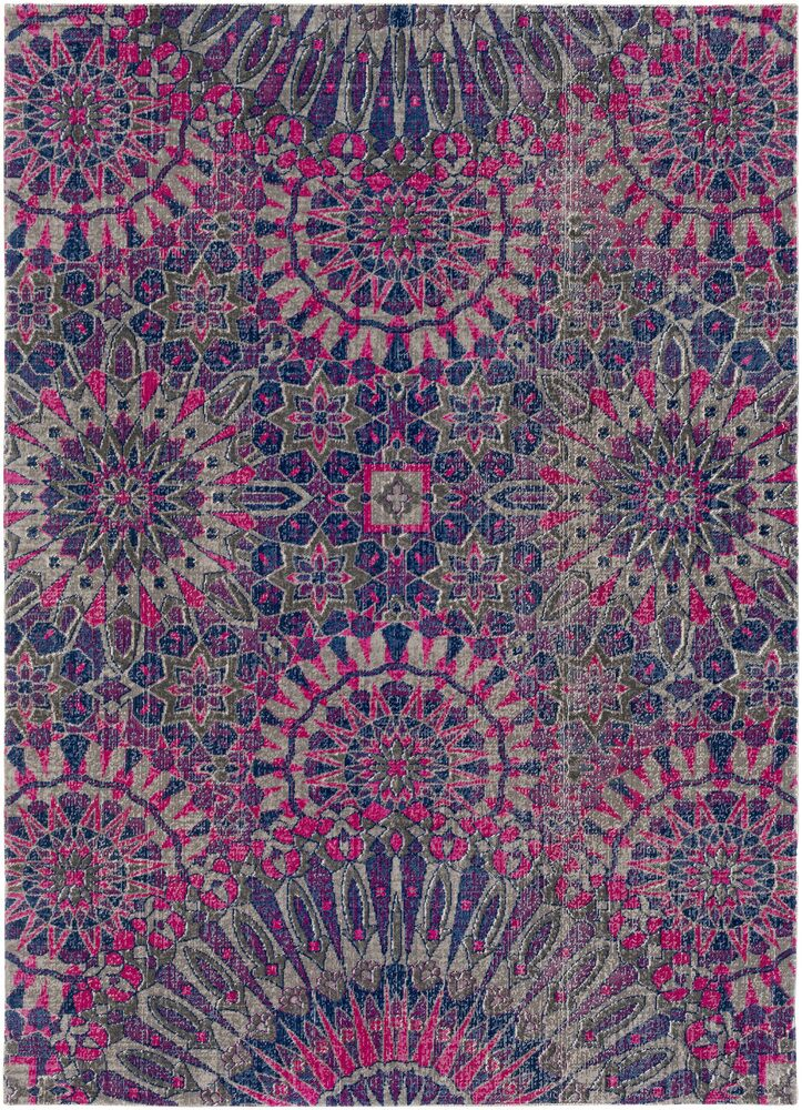Arabi Purple/Pink Area Rug Rug Size: Rectangle 5'3