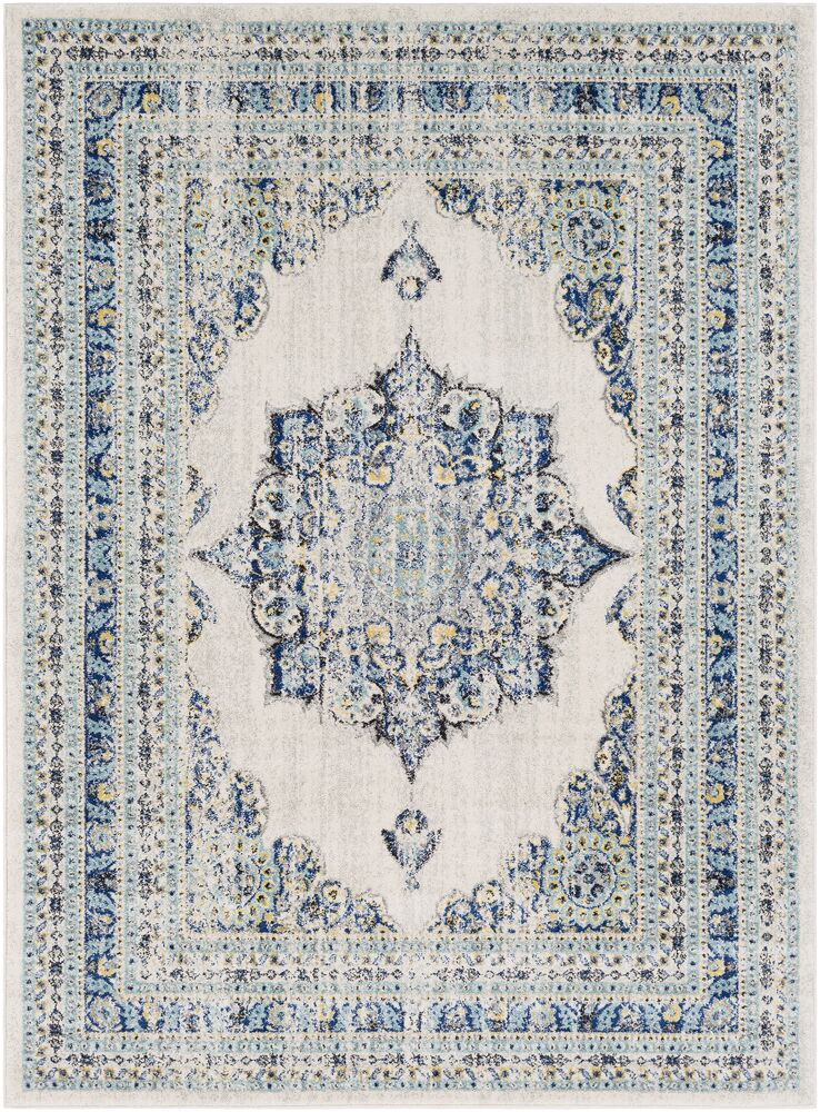 Hillsby Oriental Geometric Blue/Beige Area Rug Rug Size: Rectangle 5'3