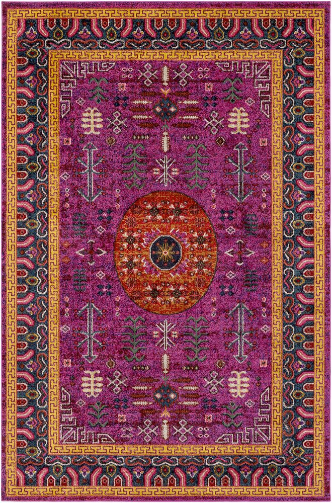 Andersonville Tibetan Pink Area Rug Rug Size: Rectangle 7'10