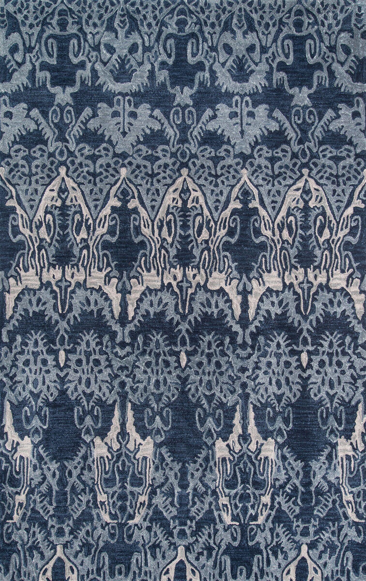 Allen Hand-Tufted Denim Area Rug Rug Size: Rectangle 8' x 10'