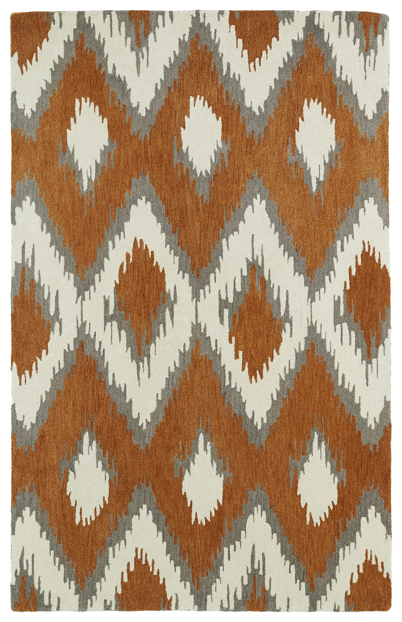 Powers Lake Paprika/White Area Rug Rug Size: Rectangle 9' x 12'