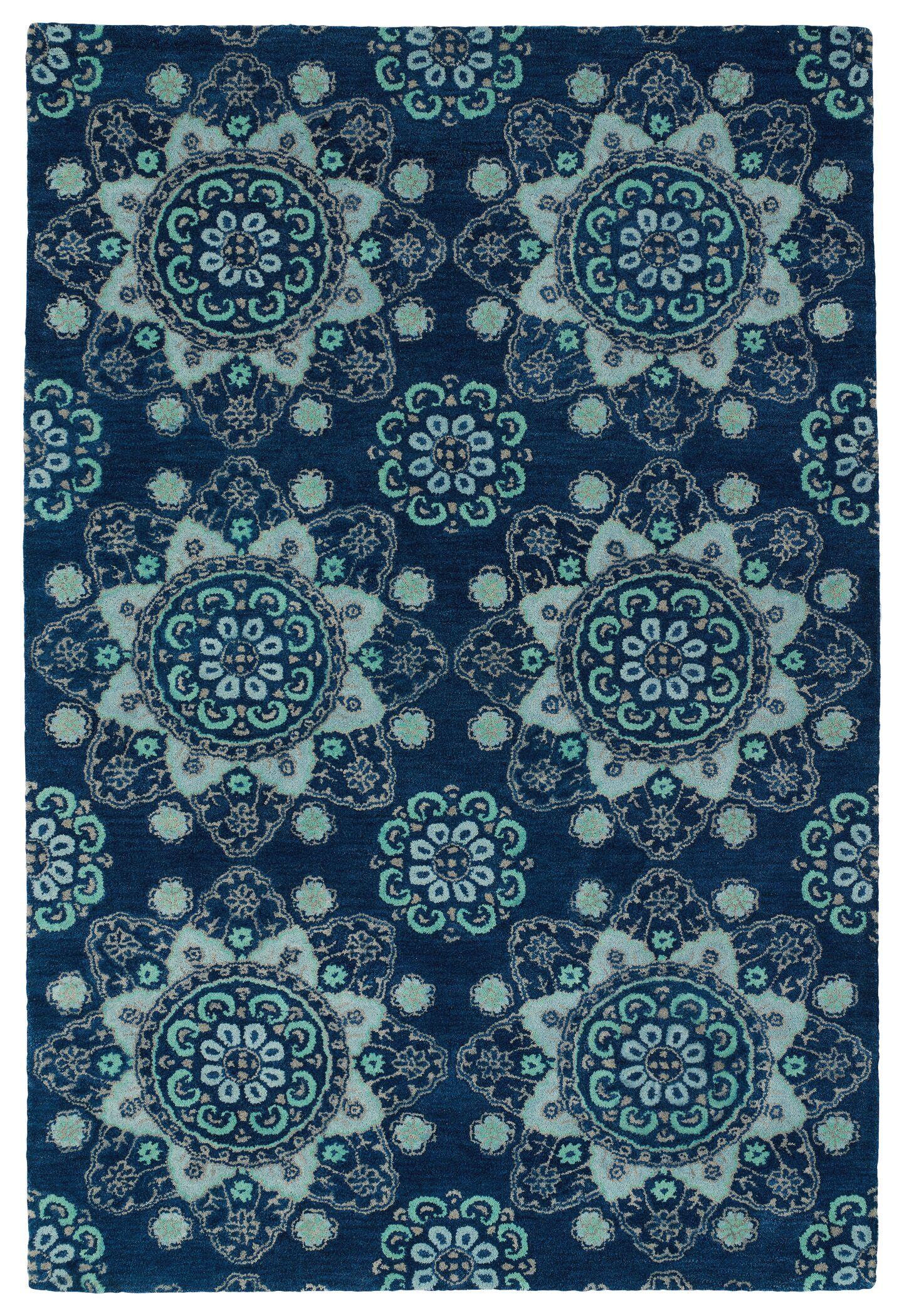 Rachida Hand Tufted Blue Area Rug Rug Size: Rectangle 3'6