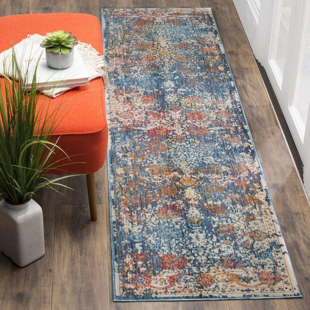 Marigold Blue Area Rug Rug Size: Runner 2'2