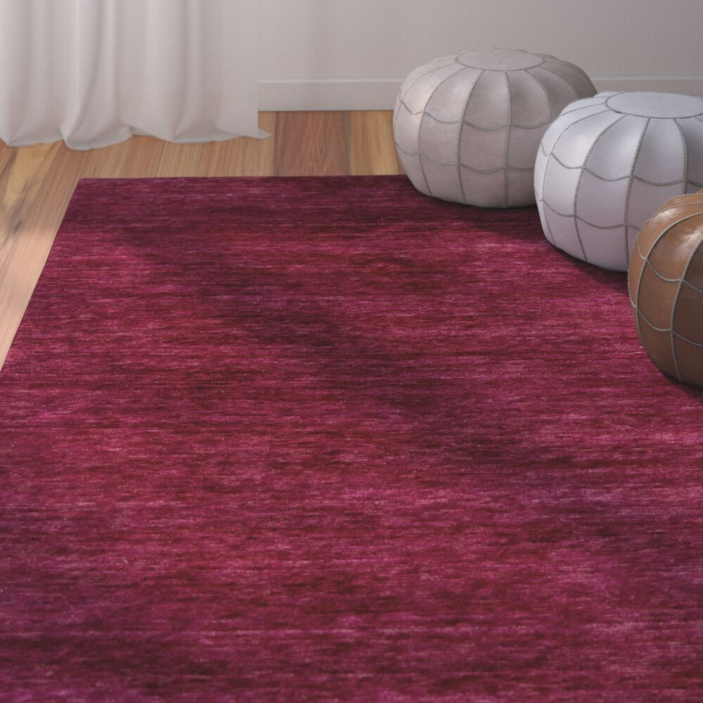 Nondoue Hand-Knotted Pink Area Rug Rug Size: 3'3