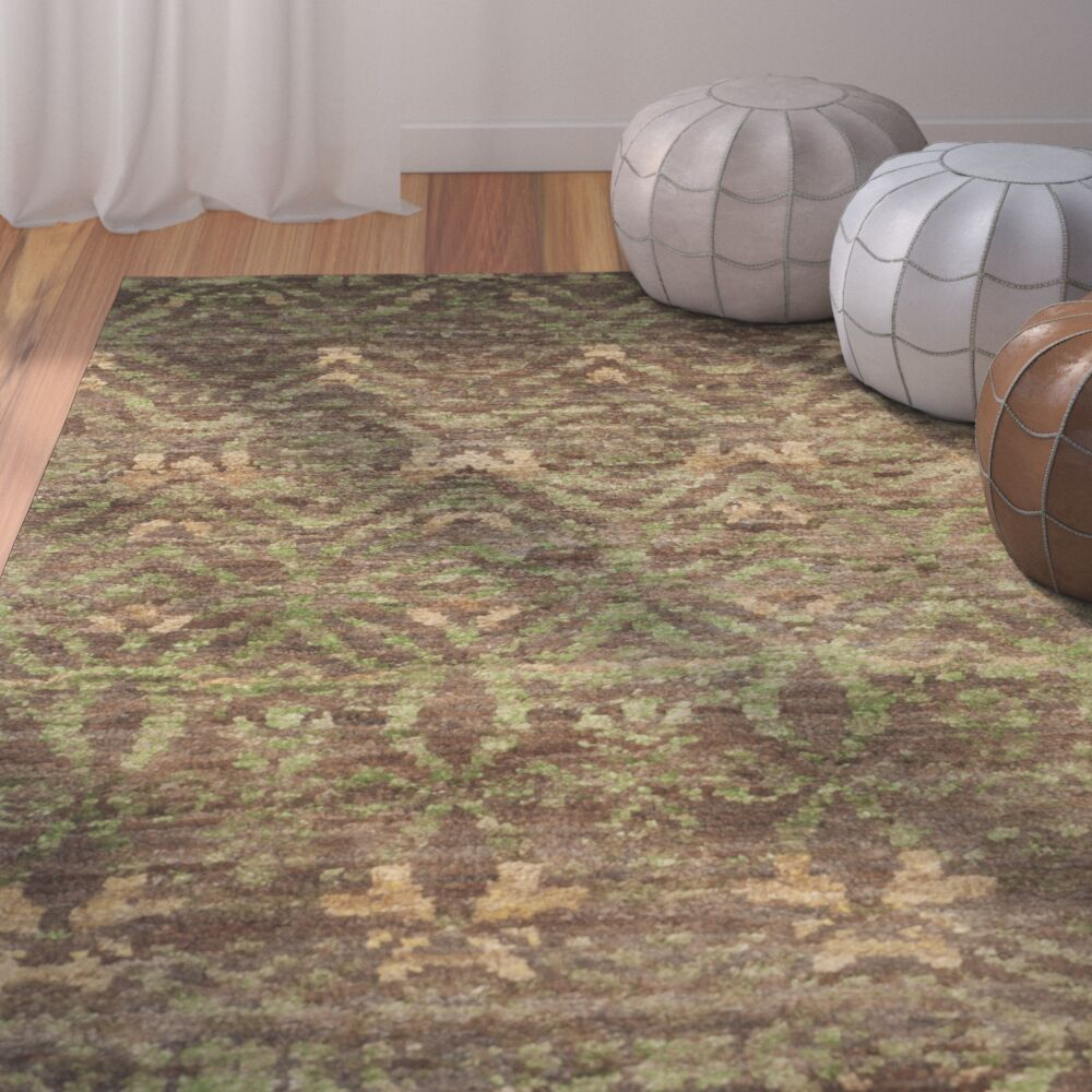 Pinehurst Green/Brown Area Rug Rug Size: Rectangle 8' x 10'