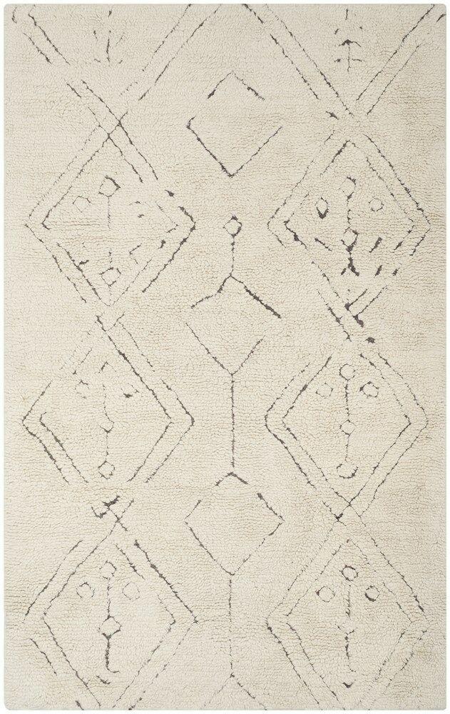 Lockheart Hand-Woven Beige Area Rug Rug Size: Rectangle 6' x 9'