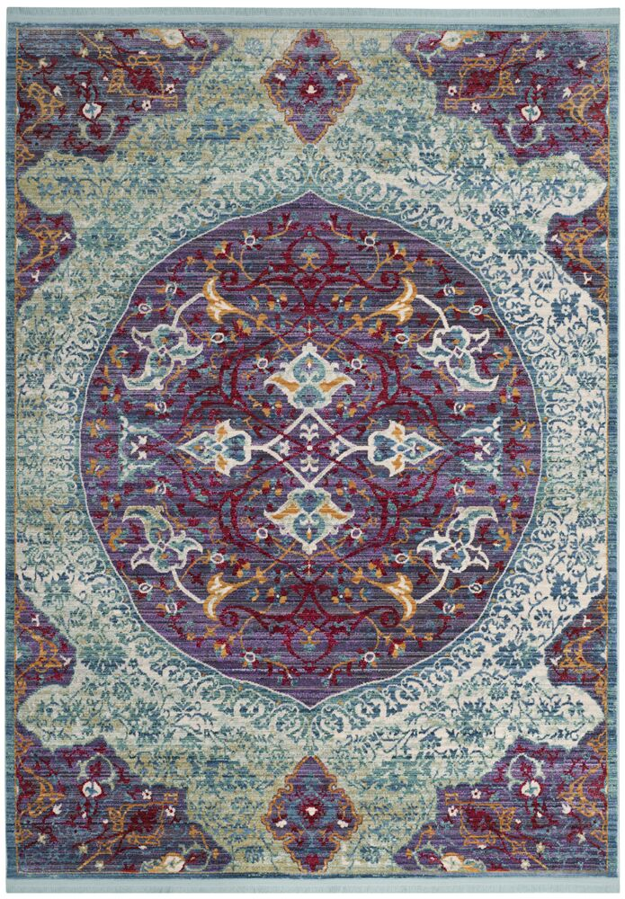 Justine Purple/Green Area Rug Rug Size: Rectangle 5' x 7'