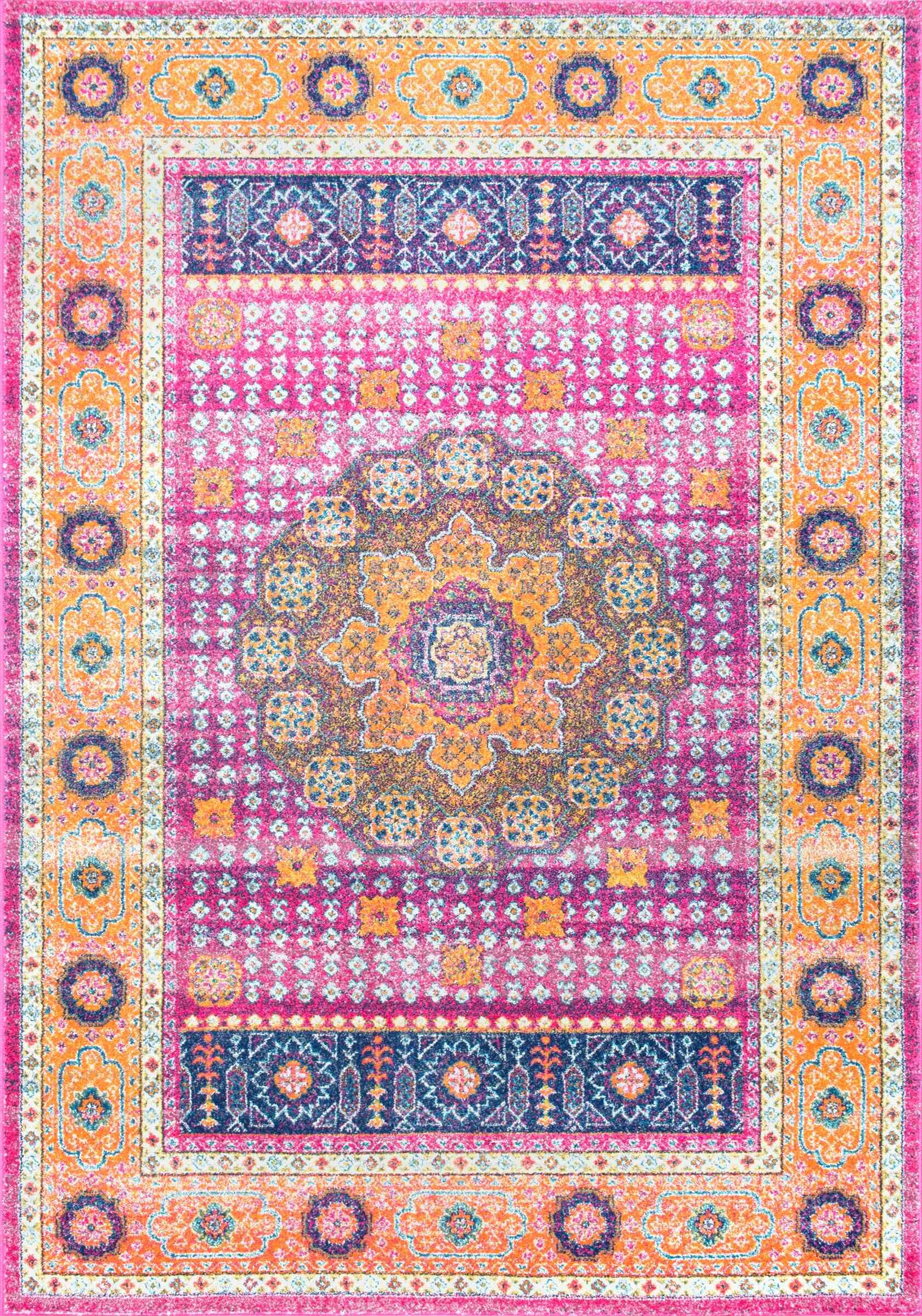 Braiden Pink Area Rug Rug Size: Rectangle 8' x 10'