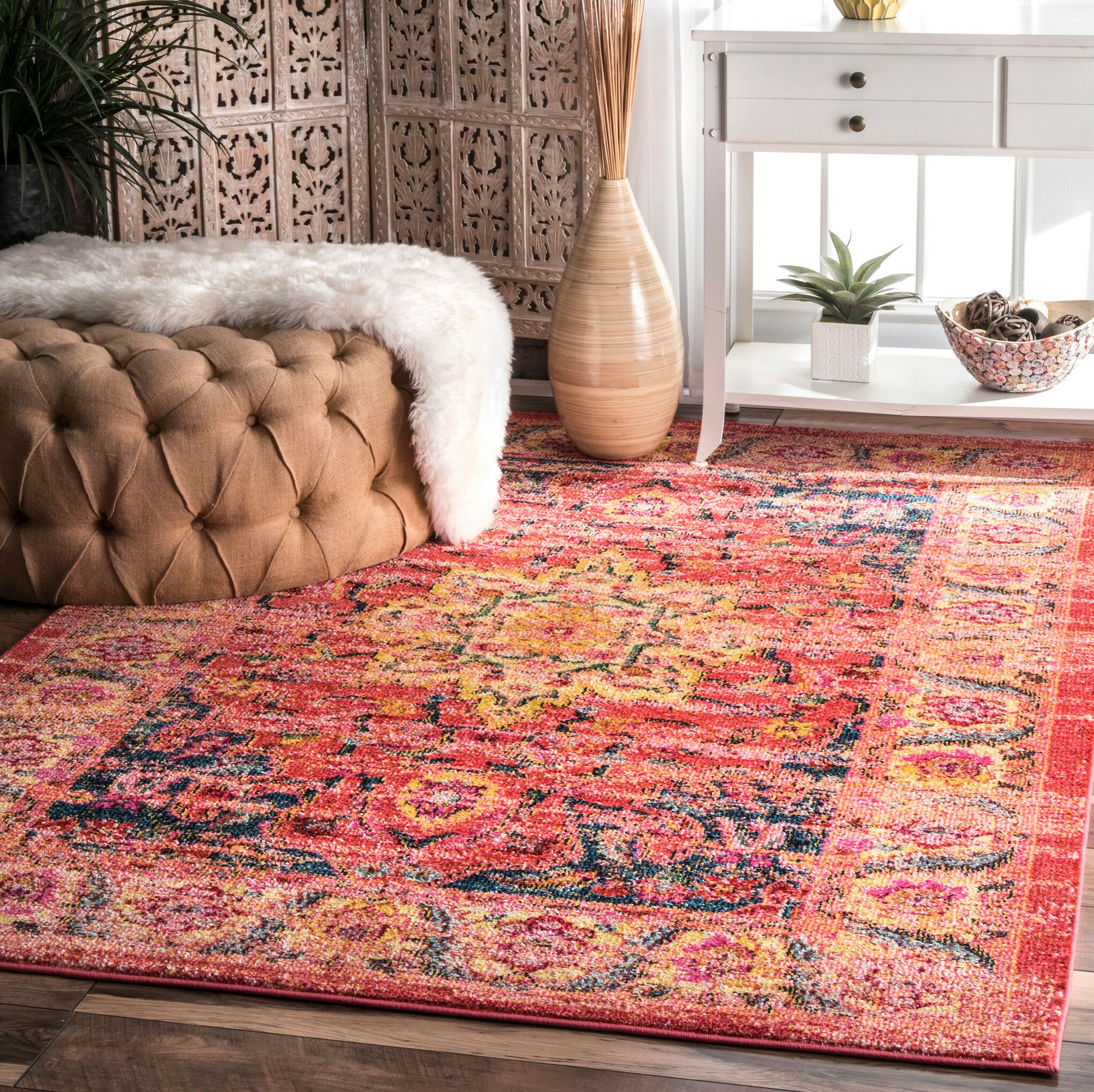 Hollowtop Multi-Colored Area Rug Rug Size: Rectangle 8' x 10'