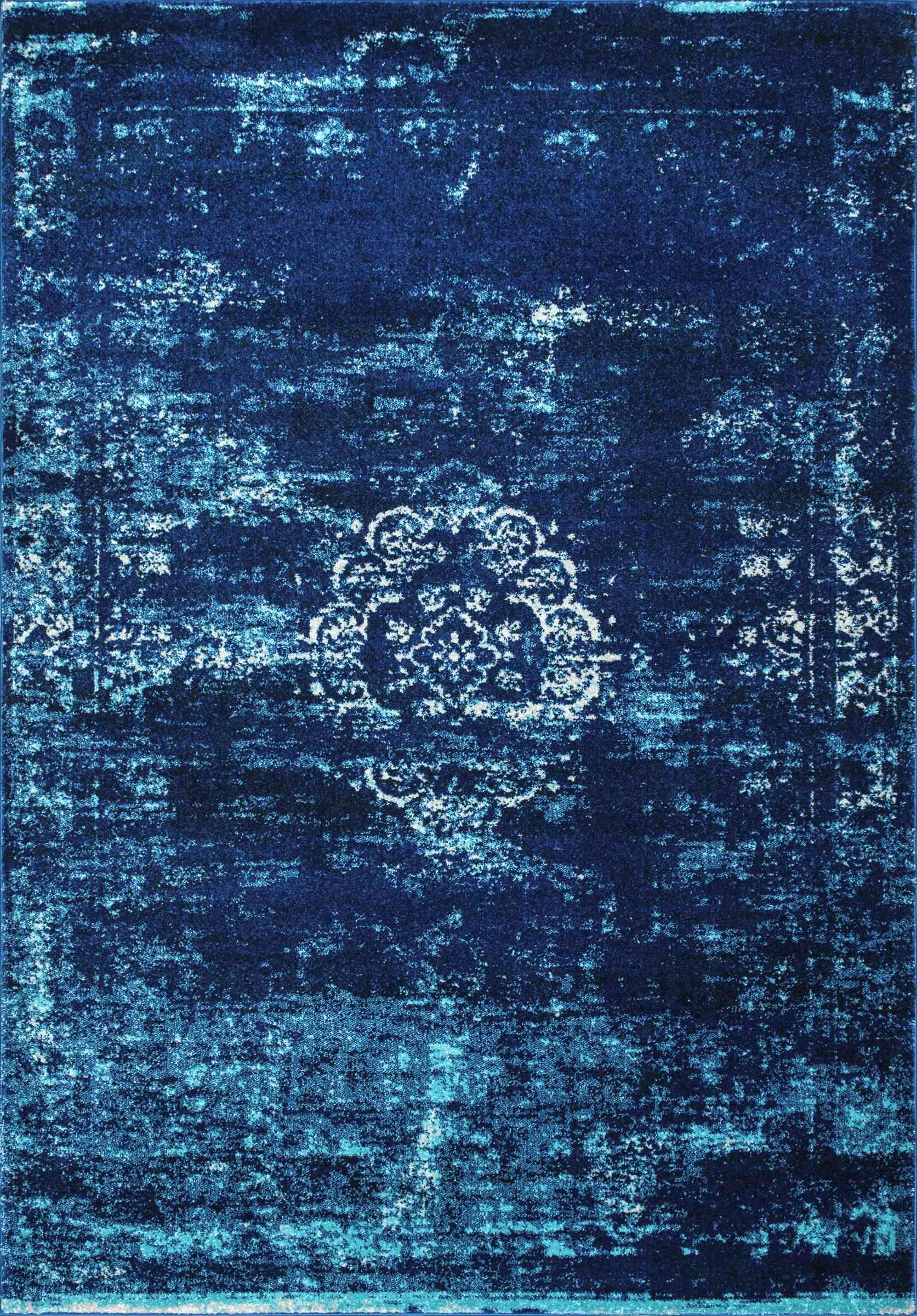 Burdett Blue Area Rug Rug Size: Rectangle 5' x 7'5