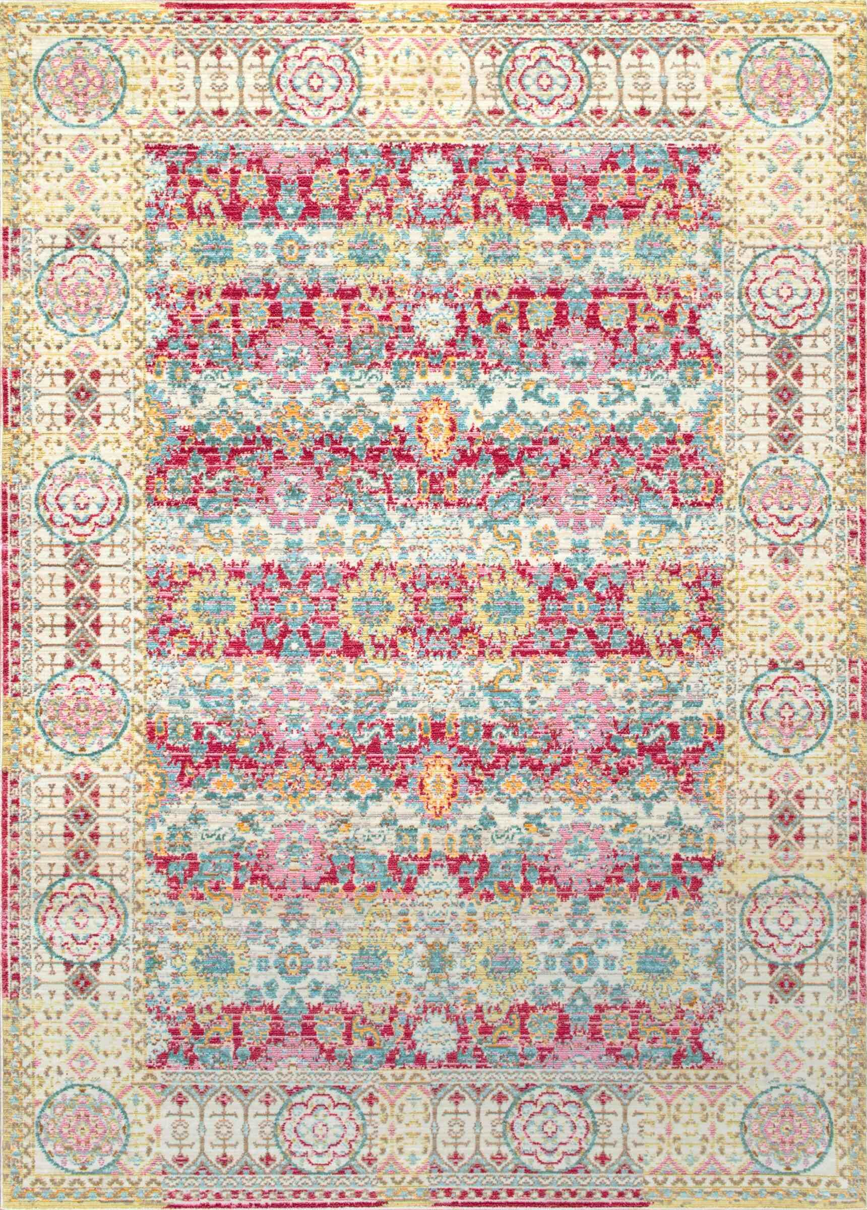 Barrett Cherry Pink Area Rug Rug Size: Rectangle 5'3