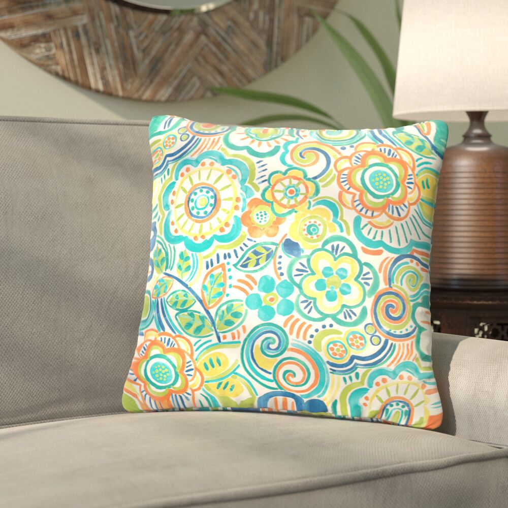 Lucie Outdoor Throw Pillow Size: 20